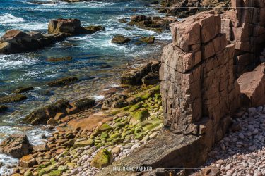 Thunder Hole area in Acadia National Park in Maine