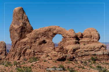 Turret Arch in Arches National Park in Utah