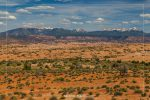 LaSal Mountains Viewpoint in Arches National Park in Utah
