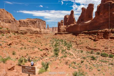 Park Avenue in Arches National Park in Utah