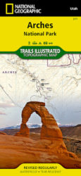 Arches Trails Illustrated Map