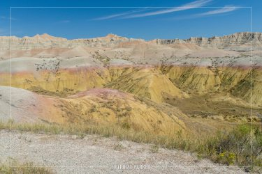 Yellow Mounds in Badlands National Park in South Dakota