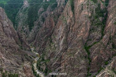 Big Island in Black Canyon of the Gunnison National Park in Colorado