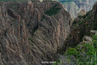 Cross Fissures in Black Canyon of the Gunnison National Park in Colorado