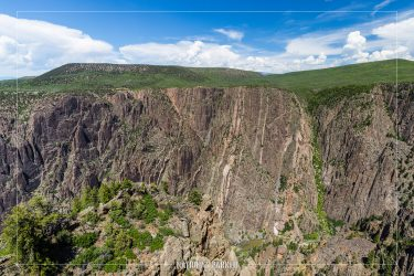 Gunnison Point in Black Canyon of the Gunnison National Park in Colorado