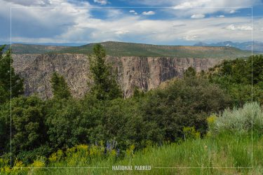 High Point in Black Canyon of the Gunnison National Park in Colorado
