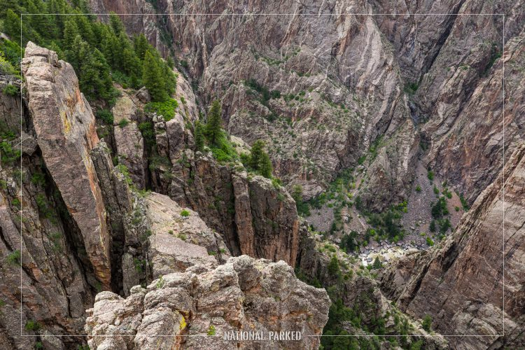 Island Peaks in Black Canyon of the Gunnison National Park in Colorado