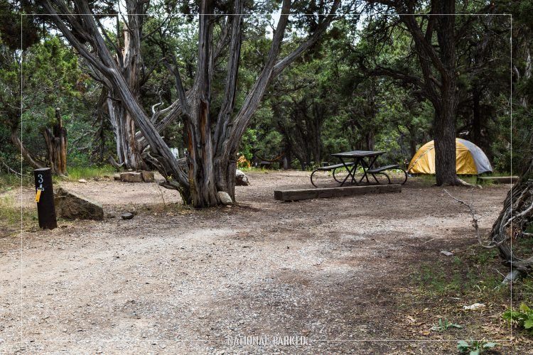North Rim Campground in Black Canyon of the Gunnison National Park in Colorado