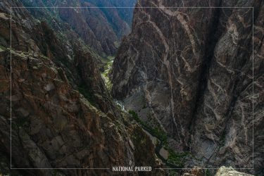 Painted Wall in Black Canyon of the Gunnison National Park in Colorado