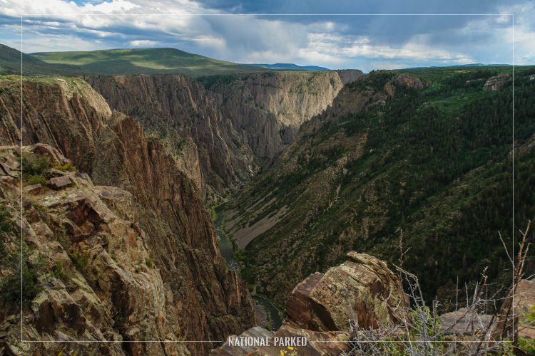 Pulpit Rock in Black Canyon of the Gunnison National Park in Colorado
