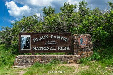 South Entrance Sign in Black Canyon of the Gunnison National Park in Colorado