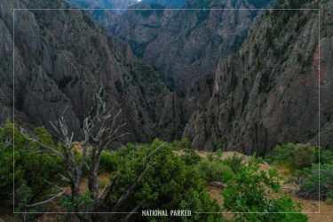 Tomichi Point in Black Canyon of the Gunnison National Park in Colorado