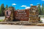 Entrance Sign in Bryce Canyon National Park in Utah