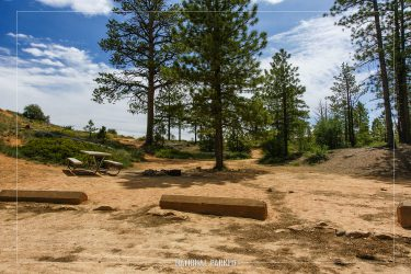 North Campground in Bryce Canyon National Park in Utah