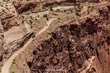 Shafer Trail Overlook in Canyonlands National Park in Utah