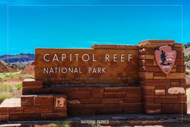 Entrance SIgn in Capitol Reef National Park in Utah