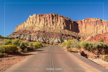 Scenic Drive VIews in Capitol Reef National Park in Utah