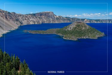 Discovery Point in Crater Lake National Park in Oregon