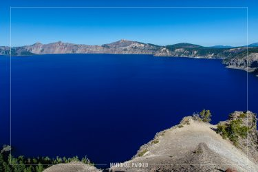 Lake in Legend Viewpoint in Crater Lake National Park in Oregon
