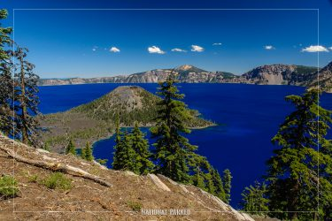 Lightning Springs View in Crater Lake National Park in Oregon