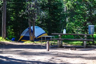 Lost Creek Campground in Crater Lake National Park in Oregon