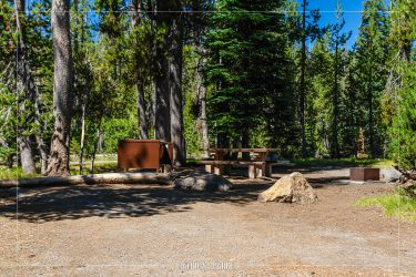Mazama Campground in Crater Lake National Park in Oregon