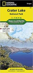 Crater Lake Trails Illustrated Map