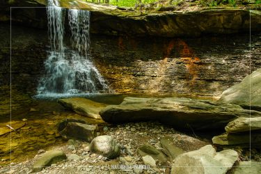 Blue Hen Falls in Cuyahoga Valley National Park in Ohio
