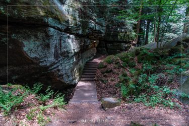 Ledges Trail in Cuyahoga Valley National Park in Ohio