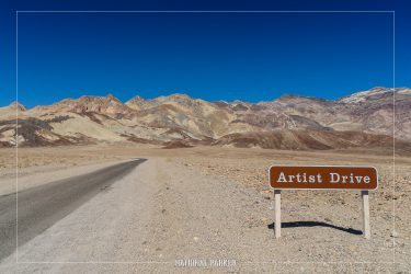 Artist Drive in Death Valley National Park in California