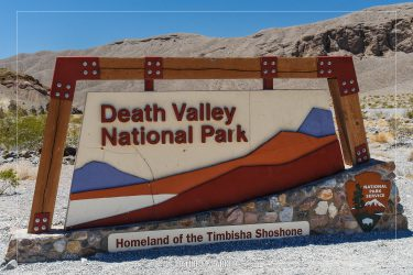 Entrance Sign to Death Valley National Park in California