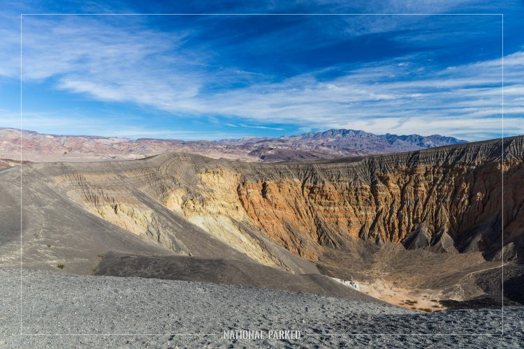 Ubehebe Crater in Death Valley National Park in California