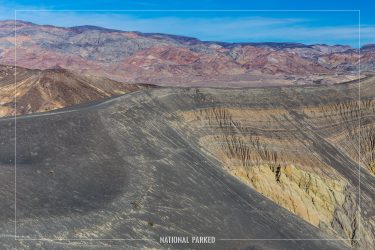 Ubehebe Crater Trail in Death Valley National Park in California