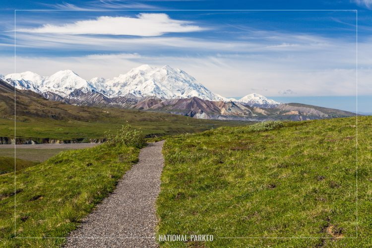View from Eielson Visitor Center in Denali National Park in Alaska in Denali National Park in Alaska