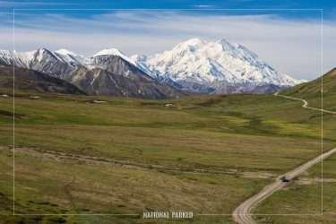 Mt McKinley from Stony Hill Overlook in Denali National Park in Alaska