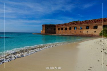 Fort Jefferson Exterior in Dry Tortugas National Park in Florida
