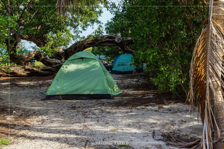 Garden Key Campground in Dry Tortugas National Park in Florida