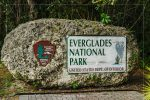 Entrance Sign in Everglades National Park in Florida