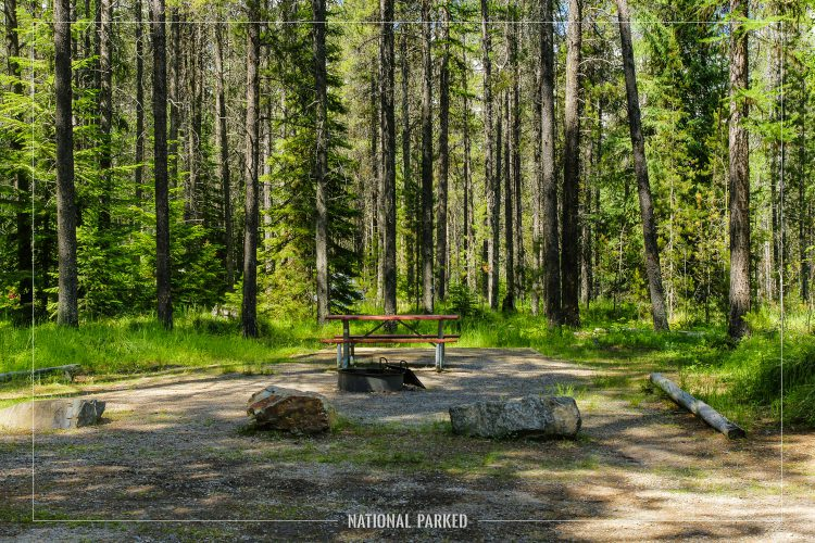 Apgar Campground in Glacier National Park in Montana