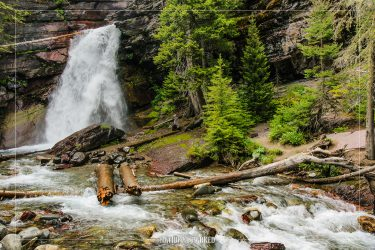 Baring Falls in Glacier National Park in Montana