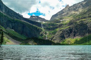 Grinnell Lake in Glacier National Park in Montana