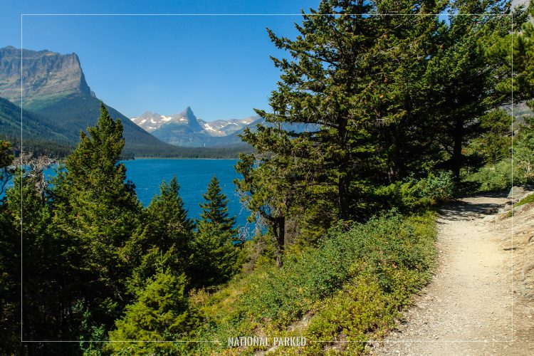 Sun Point Nature Trail in Glacier National Park in Montana