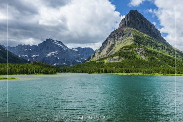 Swiftcurrent Lake in Glacier National Park in Montana