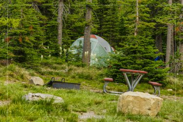 Two Medicine Campground in Glacier National Park in Montana