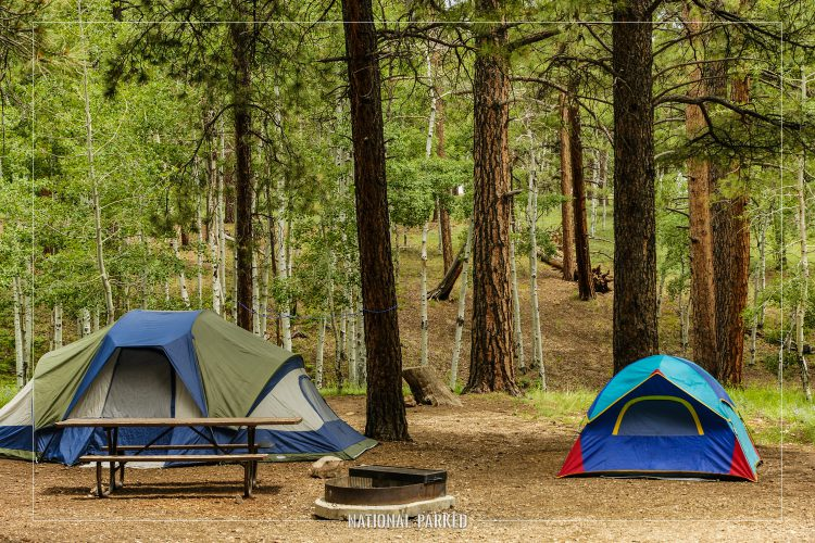 North RIm Campground in Grand Canyon National Park in Arizona