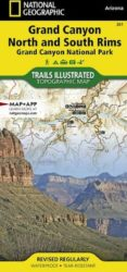 Grand Canyon North/South Trails Illustrated Map