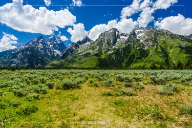Cathedral Group Turnout in Grand Teton National Park in Wyoming