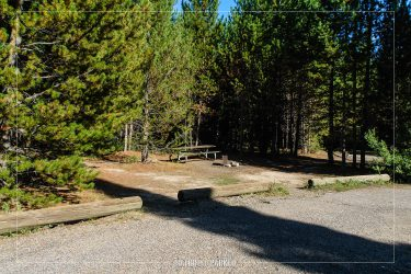 Colter Bay Campground in Grand Teton National Park in Wyoming