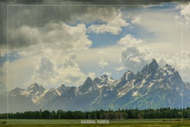 Elk Ranch Flats Turnout in Grand Teton National Park in Wyoming