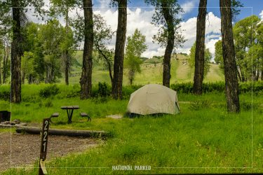 Gros Ventre Campground in Grand Teton National Park in Wyoming